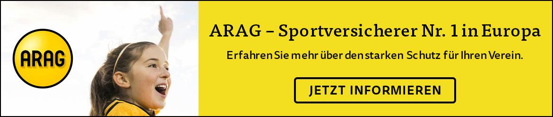 Werbebanner von der ARAG Versicherung