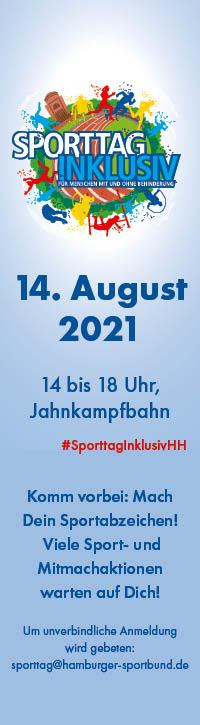 Werbebanner - Skyskraper Sporttag inklusiv